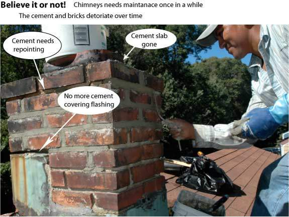 Over the years chimneys need some maintenance
