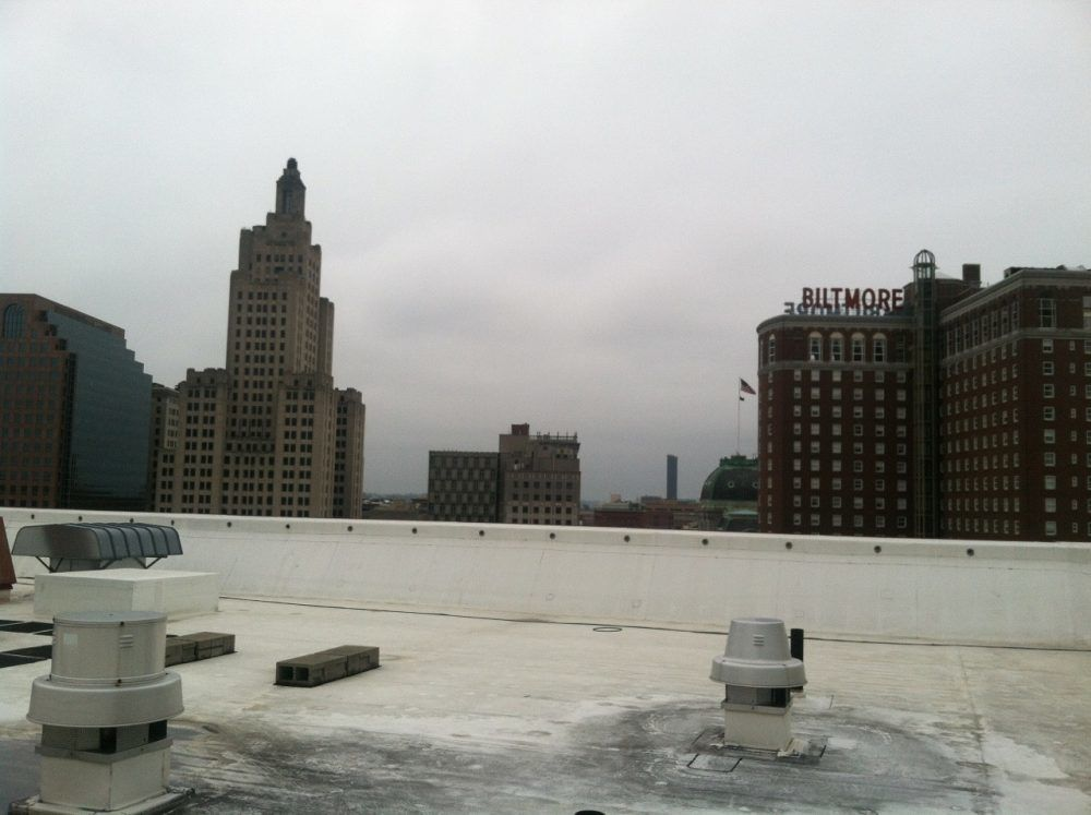 TPO Roof installed on Marriott Hotel Roof Rhode Island