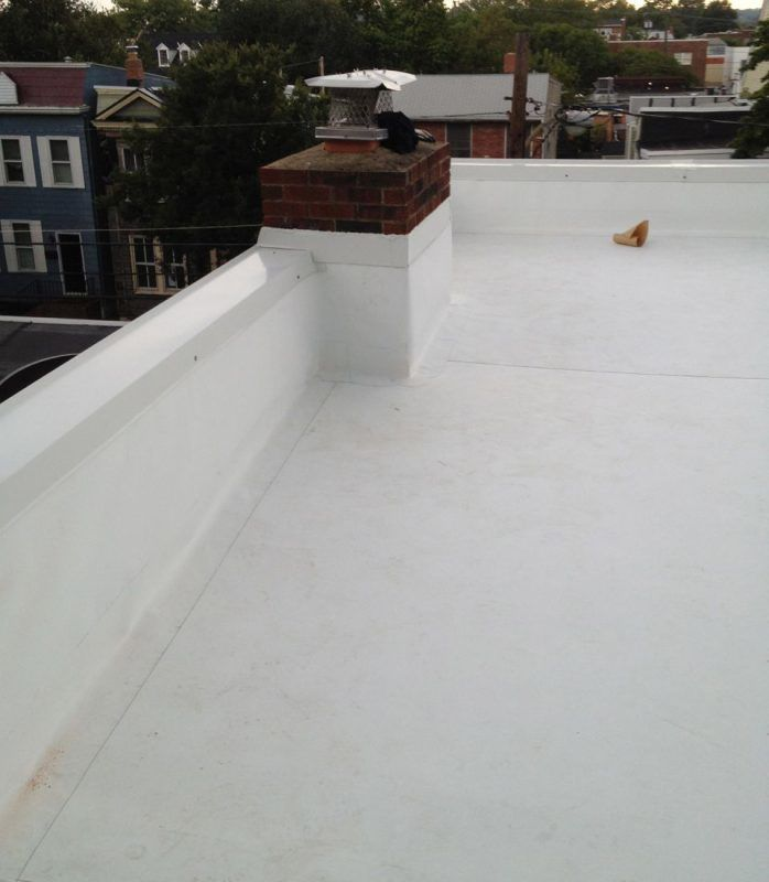 Clean TPO Rubber membrane roof
