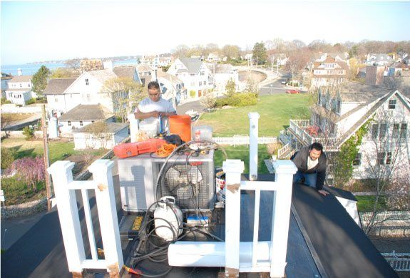 Rubber Roof In Darien Removal And Installation Of A Flat