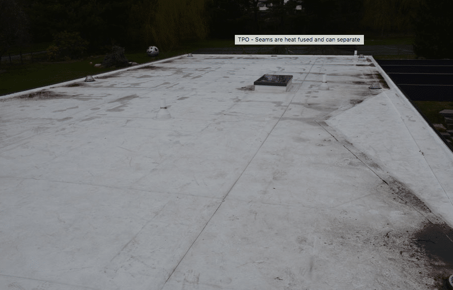 Rubber Roof Membrane and TPO vinyl roofing for flat roofs