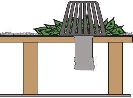 Drain and Strainer Diagram. Flat roof drains should be cleaned often