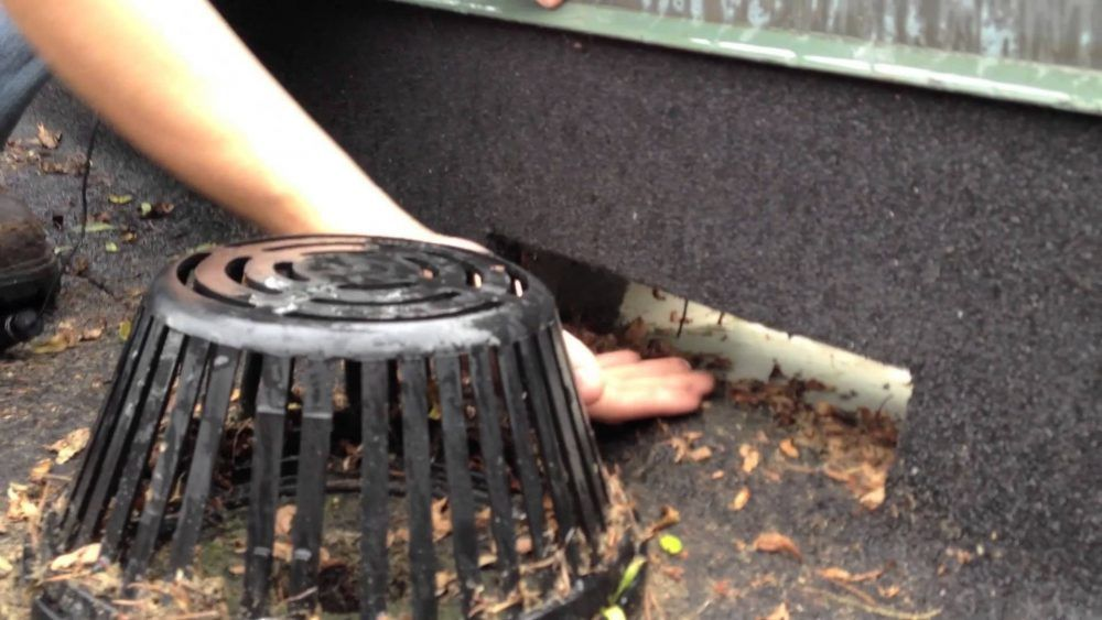 Flat Roofs Drains And Strainers Best Design Video