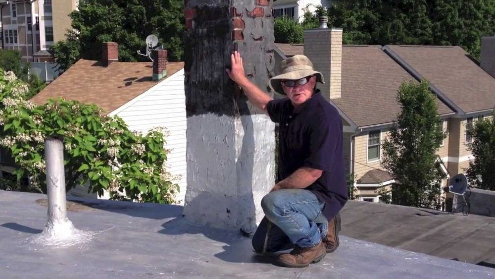 Chimney Leak Sealed With Easy Steps Flat And Rubber Roof