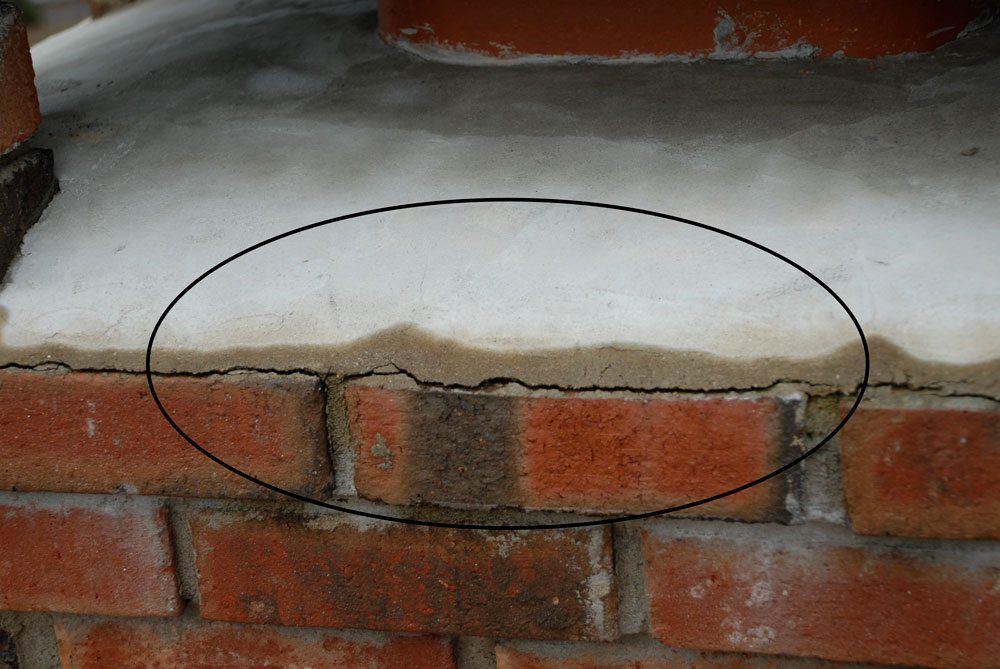 Crown of the chimney cracked