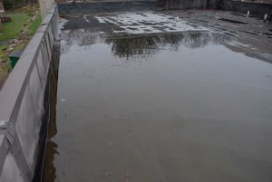 Standing water on a flat roof