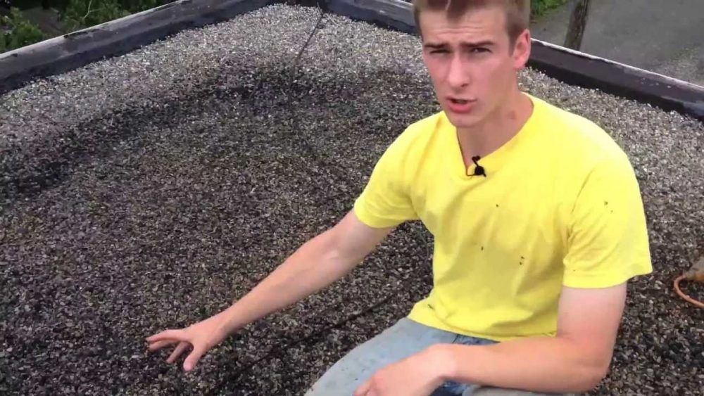 Watch Video Of Rubber Roof Installation Over Tar And