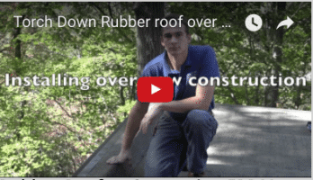 Rubber Roofs - Comparing EPDM and Torch Down - Video