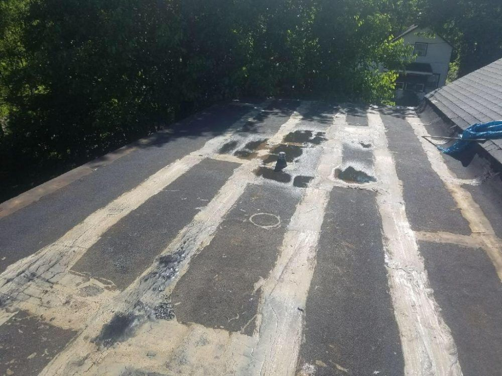 Flat Roof in illinois - very badly done