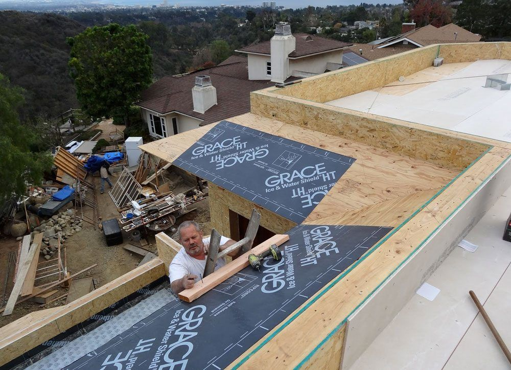 Flat roof in los angeles new construction for New roofing products