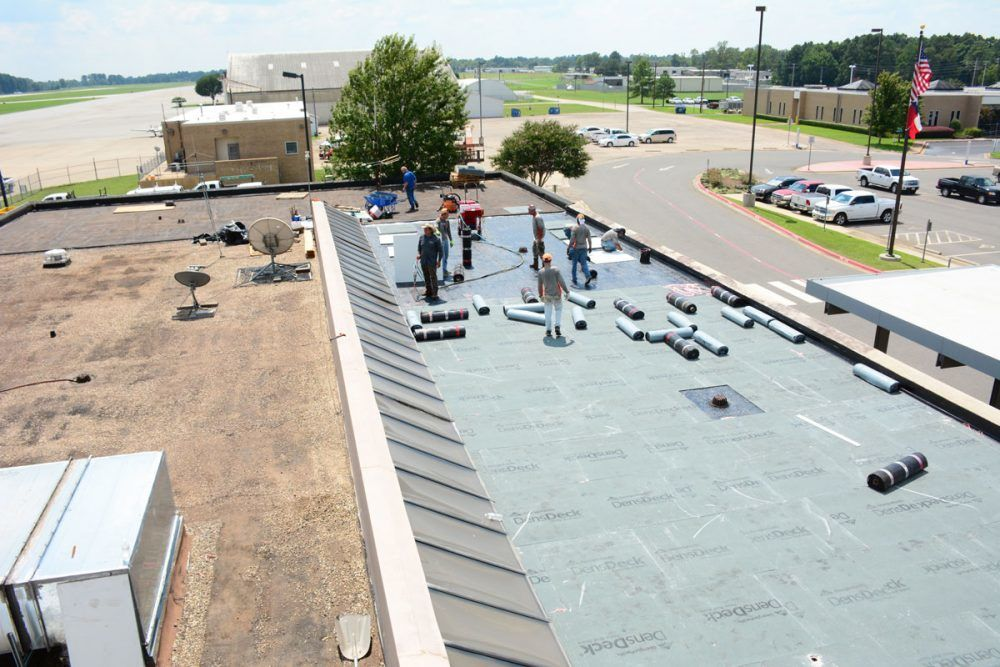 Commercial Roof Installation : Installation repair commercial flat roof contractor