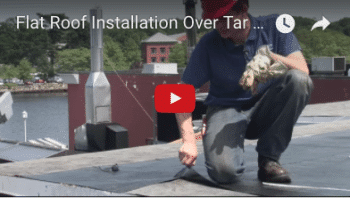 Commercial Roof Installation Over Tar & Gravel - Watch Video