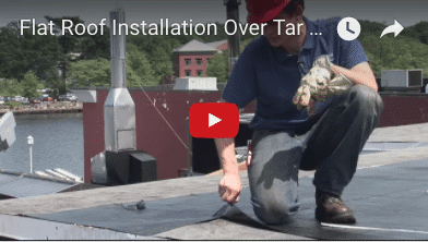 Commercial Roof Installation Over Tar & Gravel – Watch Video