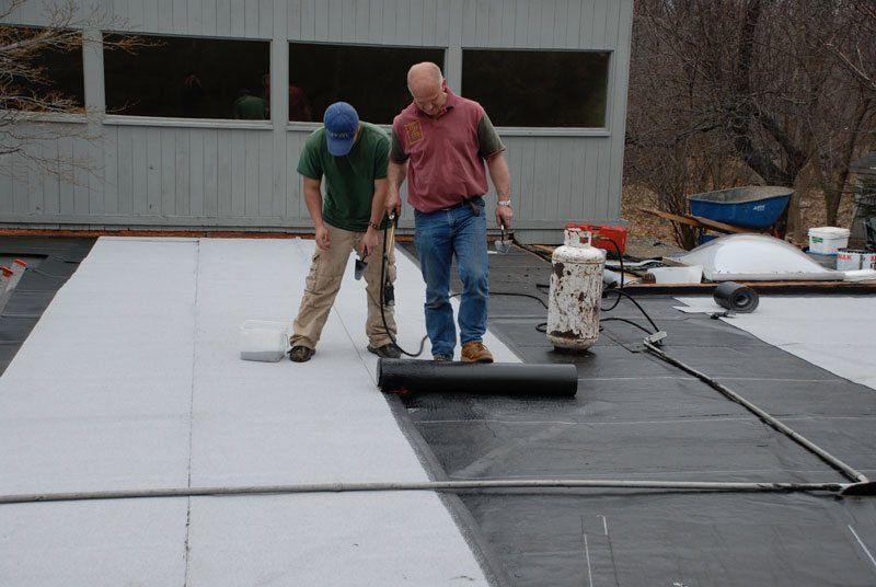 Installing a Two Ply Rubber Roof in Greenwich, Connecticut