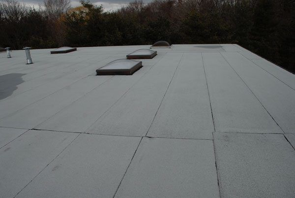 This is what a rubber roof looks like after installation - Torch Down Rubber roof