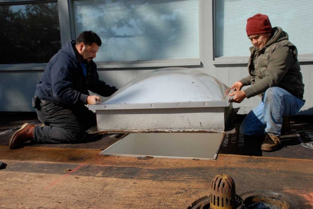 Steps on how to install a rubber roof over plywood or decking