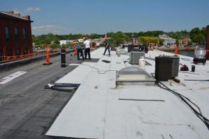 Torch Down Roofing - rubber membrane